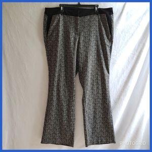 Lane Bryant Patterned Dress Pants